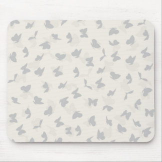 flying butterflies in pastel colors mouse pad