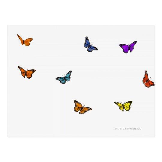 Flying butterflies postcard