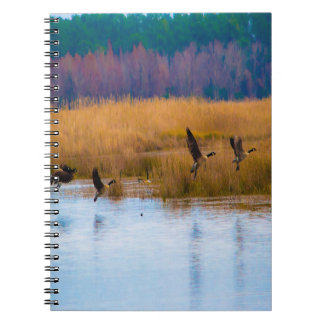 Flying Canadian Geese Notebook - customizable