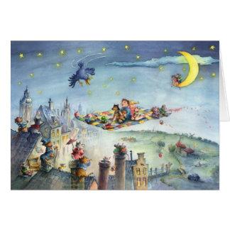 Flying Carpet Kids - Illustration Greeting Card