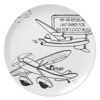 Flying Cartoon 3682 Plate