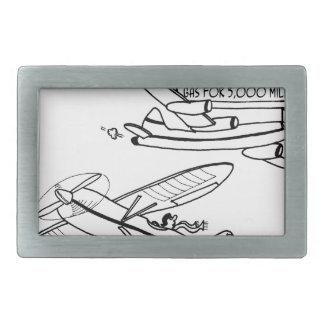Flying Cartoon 3682 Rectangular Belt Buckle