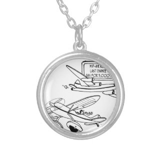 Flying Cartoon 3682 Silver Plated Necklace