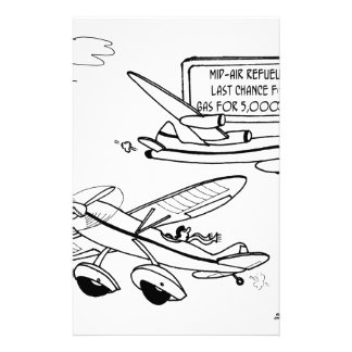 Flying Cartoon 3682 Stationery