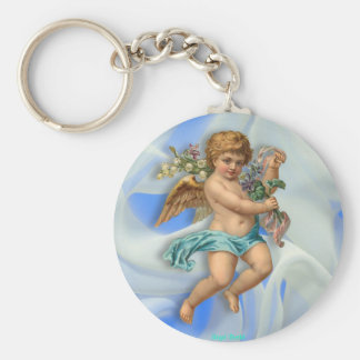 Flying Cherub Keychain