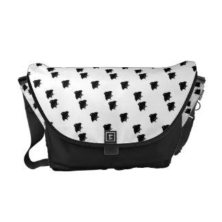 Flying Chidori Japanese Pattern Messenger Bag