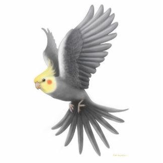 Flying Cockatiel Holiday Ornament Photo Cutout