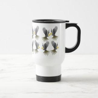 Flying Cockatiels Travel Mug