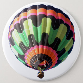 Flying Colorful Hot air Balloon Huge Button