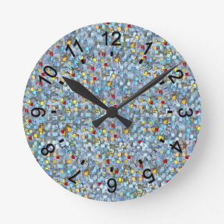 Flying Colours Round Clock