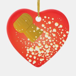 Flying Cork Ceramic Heart Ornament