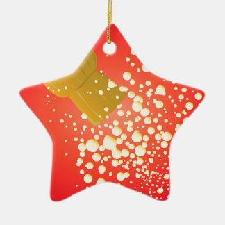 Flying Cork Ceramic Star Ornament