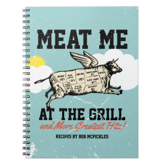 Flying cow grilling cookbook recipe notebook
