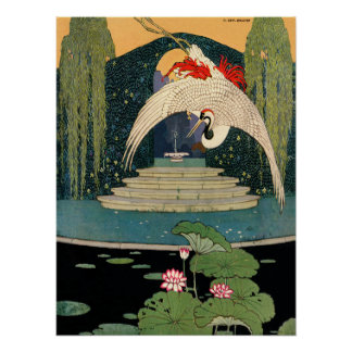 Flying Crane Poster