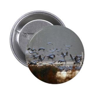Flying cranes 2 inch round button