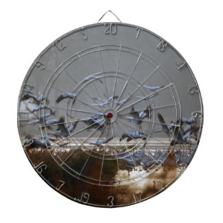 Flying cranes dartboard