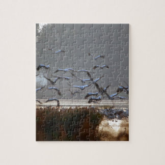 Flying cranes jigsaw puzzle