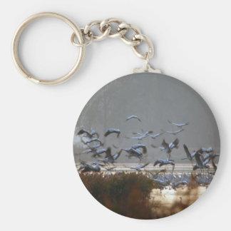 Flying cranes keychain