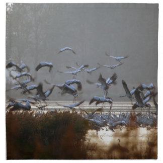Flying cranes napkin
