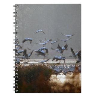 Flying cranes notebook