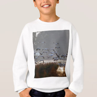 Flying cranes sweatshirt