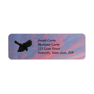Flying crow return address Avery Label Return Address Label
