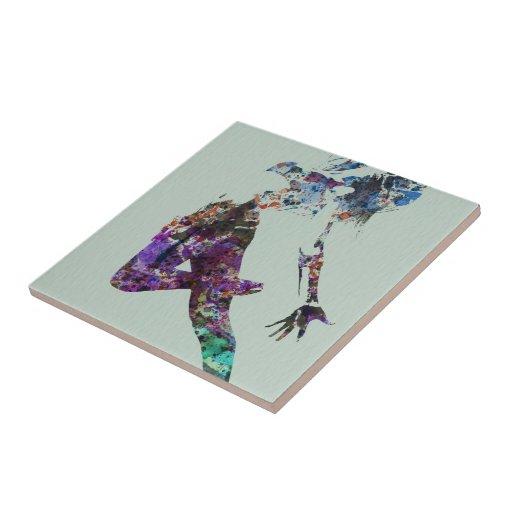 Flying dance ceramic tile