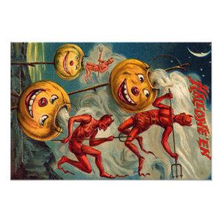 Flying Devils Jack O' Lantern Smoke Photographic Print