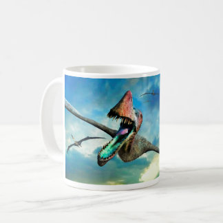 Flying dinosaur coffee mug