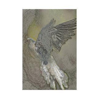 flying dove canvas print