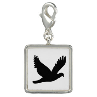 Flying Dove Silhouette Charm