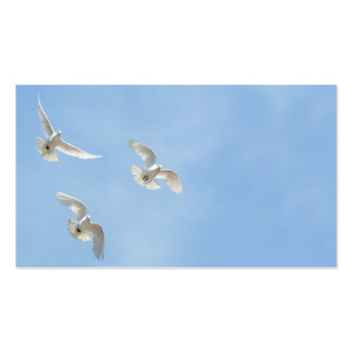 Flying doves business card template