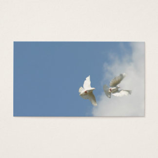 Flying doves business card
