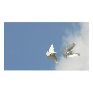 Flying doves business card templates