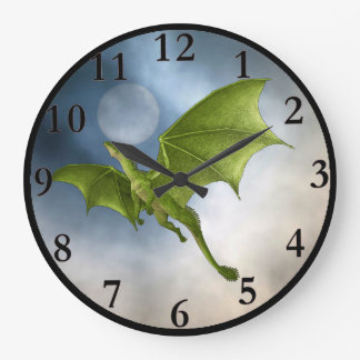 Flying Dragon Round Wall Clock
