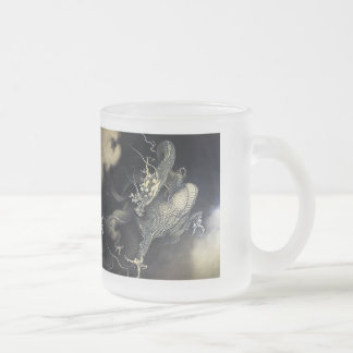 'Flying dragon theatre/playing child figure ' Kanō Frosted Glass Coffee Mug