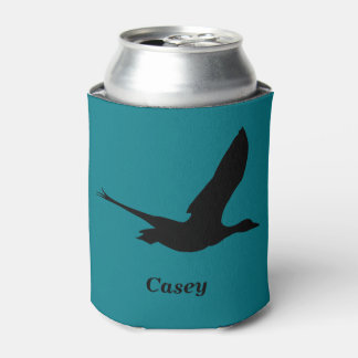 Flying Duck Hunting Themed Personalized Can Holder Can Cooler