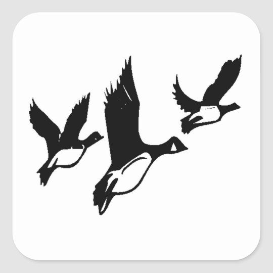 Flying Ducks Square Sticker