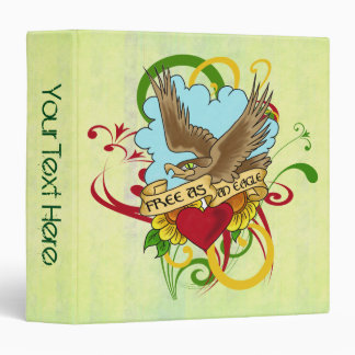 Flying Eagle and Heart Tattoo Art Vinyl Binder