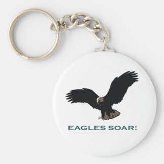 Flying Eagle Basic Round Button Keychain
