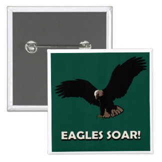 Flying Eagle Square 2 Inch Square Button