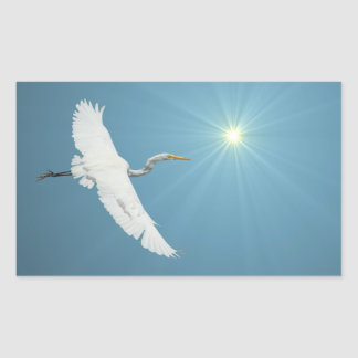 Flying Egret 1 Sticker