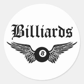 flying eightball billiards round sticker