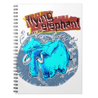 flying elephant color notebooks