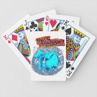 flying elephant color poker deck
