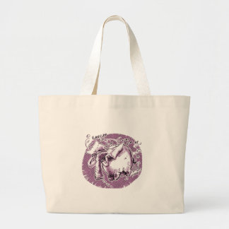 flying elephant large tote bag