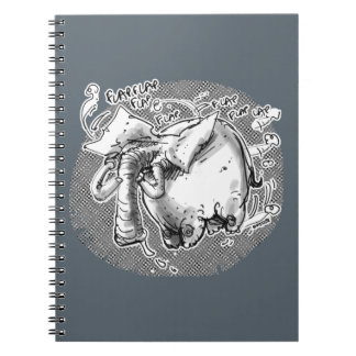 flying elephant notebook