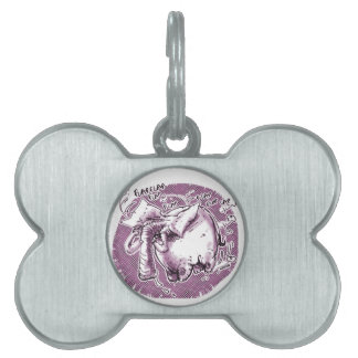 flying elephant pet tag