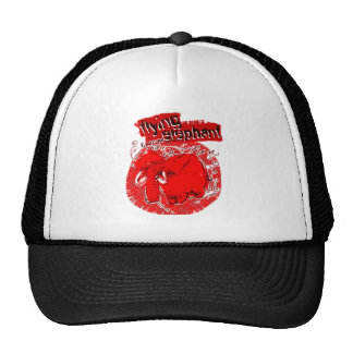 flying_elephant pure red trucker hat