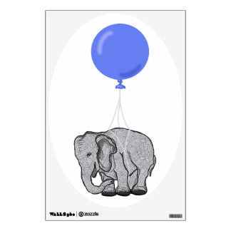 Flying elephant wall sticker